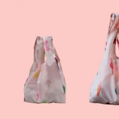 Stow your stuff in a reusable bag made from plastic bottles